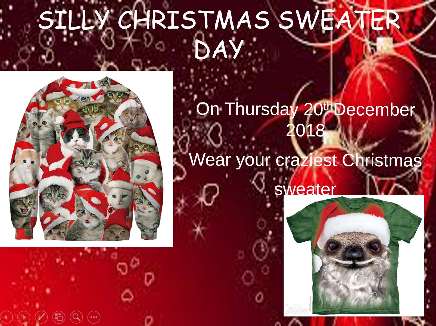 Silly Christmas Sweater Day